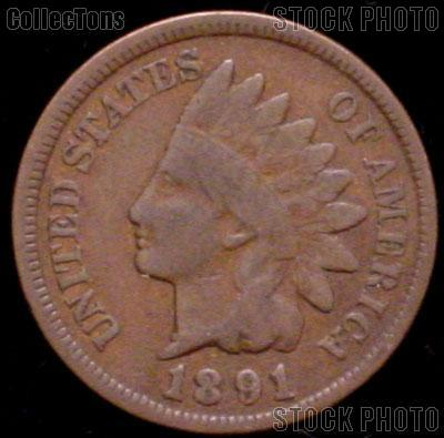 1891 Indian Head Cent Variety 3 Bronze G-4 or Better Indian Penny