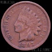 1897 Indian Head Cent Variety 3 Bronze G-4 or Better Indian Penny