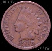1898 Indian Head Cent Variety 3 Bronze G-4 or Better Indian Penny