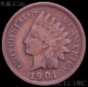 1901 Indian Head Cent Variety 3 Bronze G-4 or Better Indian Penny