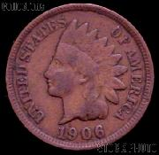 1906 Indian Head Cent Variety 3 Bronze G-4 or Better Indian Penny