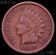 1907 Indian Head Cent Variety 3 Bronze G-4 or Better Indian Penny