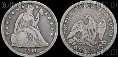 Liberty Seated No Motto Dollar 1840-1865
