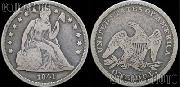 Liberty Seated No Motto Dollar 1840-1865