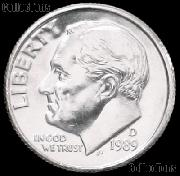 1989-D Roosevelt Dime Gem BU (Brilliant Uncirculated)