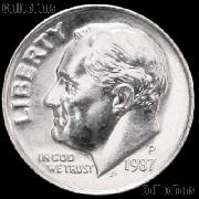 1987-P Roosevelt Dime Gem BU (Brilliant Uncirculated)