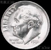 1986-P Roosevelt Dime Gem BU (Brilliant Uncirculated)