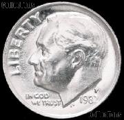 1982-P Roosevelt Dime Gem BU (Brilliant Uncirculated)