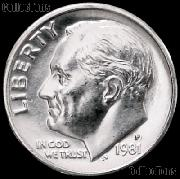 1981-P Roosevelt Dime Gem BU (Brilliant Uncirculated)