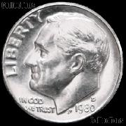 1980-D Roosevelt Dime Gem BU (Brilliant Uncirculated)