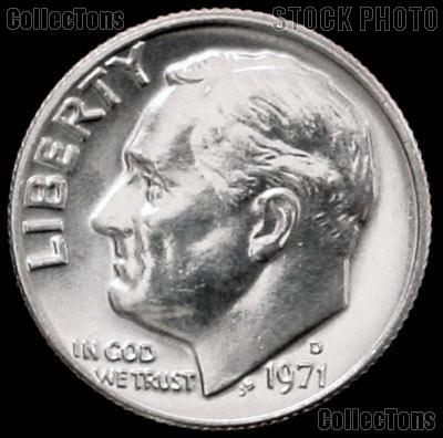 1971-D Roosevelt Dime Gem BU (Brilliant Uncirculated)