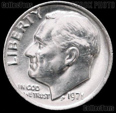 1971 Roosevelt Dime Gem BU (Brilliant Uncirculated)