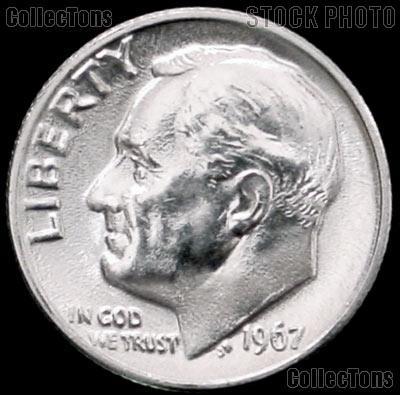 1967 Roosevelt Dime Gem BU (Brilliant Uncirculated)