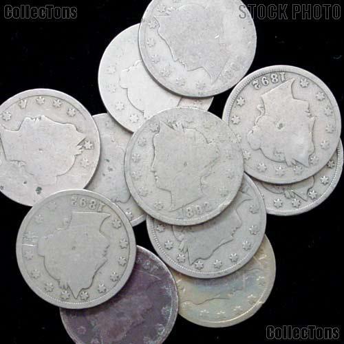 1892 Liberty Head V Nickel - Better Date Filler