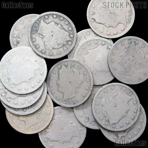 1895 Liberty Head V Nickel - Better Date Filler
