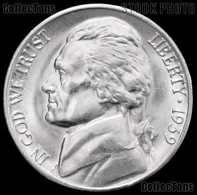 1939-D Jefferson Nickel Gem BU (Brilliant Uncirculated)
