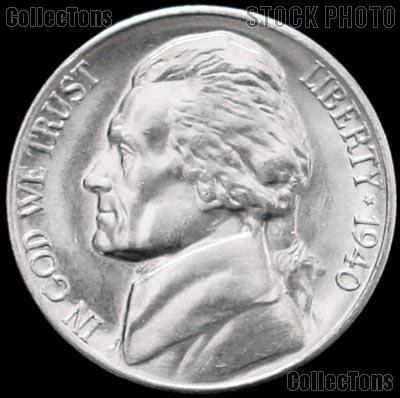 1940 Jefferson Nickel Gem BU (Brilliant Uncirculated)