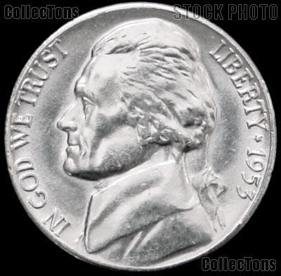 1953 Jefferson Nickel Gem BU (Brilliant Uncirculated)