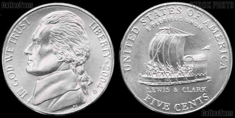 2004-D Jefferson Nickel GEM BU Keelboat Design from Westward Journey Series