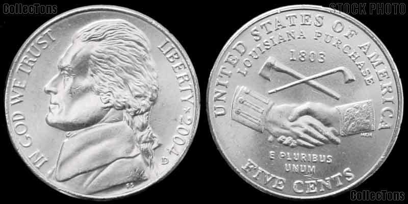 2004-D Jefferson Nickel GEM BU Peace Medal Design from Westward Journey Series