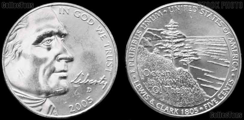 2005-D Jefferson Nickel GEM BU Ocean View Design from Westward Journey Series