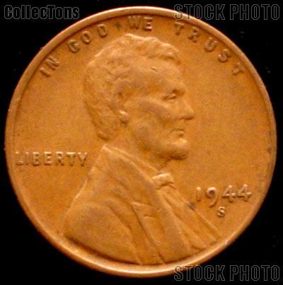 1944-S Wheat Penny Lincoln Wheat Cent Circulated G-4 or Better