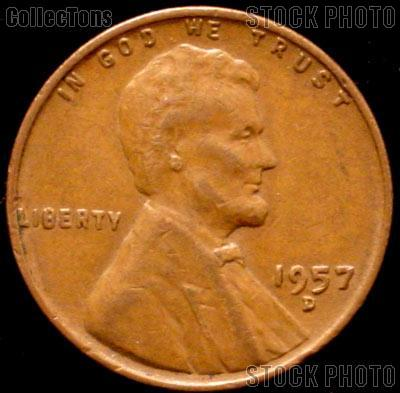 1957-D Wheat Penny Lincoln Wheat Cent Circulated G-4 or Better