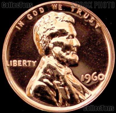 1960 Large Date Lincoln Memorial Penny Lincoln Cent Gem PROOF RED Penny