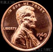 1969-S Lincoln Memorial Penny Lincoln Cent Gem PROOF RED Penny