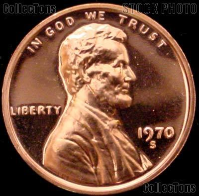 1970-S Small Date Lincoln Memorial Penny Lincoln Cent Gem PROOF RED Penny