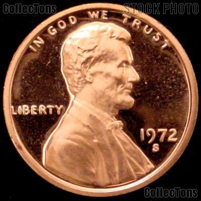 1972-S Lincoln Memorial Penny Lincoln Cent Gem PROOF RED Penny