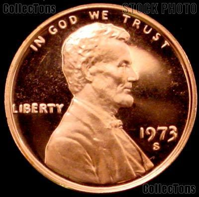 GEM BU Red US Coin 1973-S Lincoln Memorial Cent Penny Free Shipping!