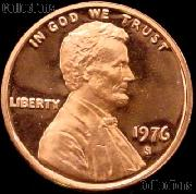 1976-S Lincoln Memorial Penny Lincoln Cent Gem PROOF RED Penny