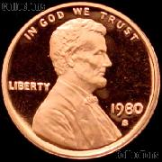 1980-S Lincoln Memorial Penny Lincoln Cent Gem PROOF RED Penny