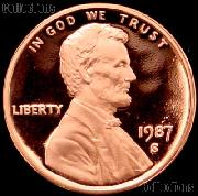 1987-S Lincoln Memorial Penny Lincoln Cent Gem PROOF RED Penny