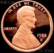 1988-S Lincoln Memorial Penny Lincoln Cent Gem PROOF RED Penny