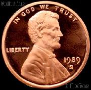 1989-S Lincoln Memorial Penny Lincoln Cent Gem PROOF RED Penny