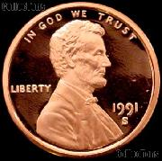 1991-S Lincoln Memorial Penny Lincoln Cent Gem PROOF RED Penny
