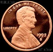 1992-S Lincoln Memorial Penny Lincoln Cent Gem PROOF RED Penny