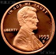 1993-S Lincoln Memorial Penny Lincoln Cent Gem PROOF RED Penny