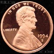 1994-S Lincoln Memorial Penny Lincoln Cent Gem PROOF RED Penny