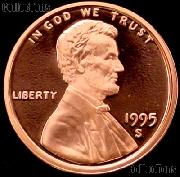 1995-S Lincoln Memorial Penny Lincoln Cent Gem PROOF RED Penny
