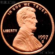 1997-S Lincoln Memorial Penny Lincoln Cent Gem PROOF RED Penny