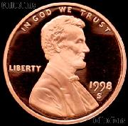 1998-S Lincoln Memorial Penny Lincoln Cent Gem PROOF RED Penny