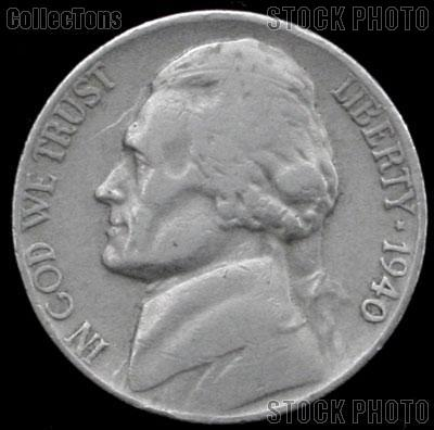 1940-D Jefferson Nickel Circulated G-4 or Better