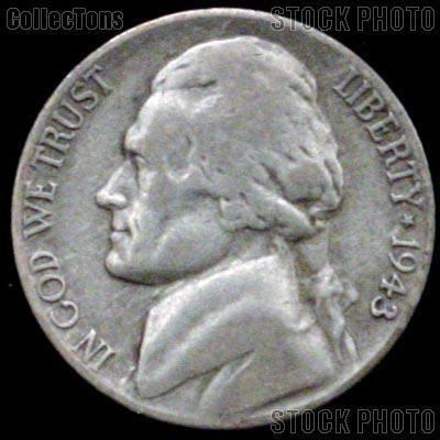 1943-P Jefferson Silver War Nickel Circulated G-4 or Better