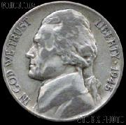 1945-D Jefferson Silver War Nickel Circulated G-4 or Better