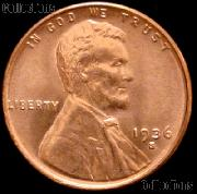 1936-S Lincoln Wheat Cent GEM BU RED Penny for Album