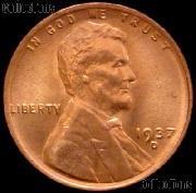 1937-D Lincoln Wheat Cent GEM BU RED Penny for Album