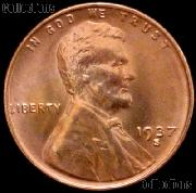 1937-S Lincoln Wheat Cent GEM BU RED Penny for Album